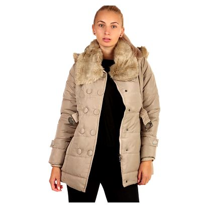 Dámská zimní bunda s límcem - II.jakost béžová