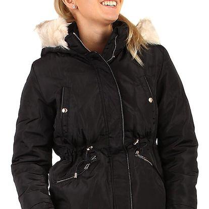 Lesklá dámská bunda - i pro plnoštíhlé černá