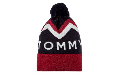 Tommy Hilfiger dámská zimní čepice Tommy Chevron Pom Pom Beanie