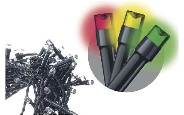 Vánoční osvětlení EMOS 200 LED, 10m, řetěz, multicolor (1534210090)