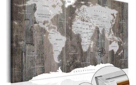 Bimago Obraz na korku - World of Wood 120x80 cm
