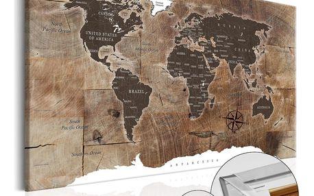 Bimago Obraz na korku - Wooden Mosaic 90x60 cm