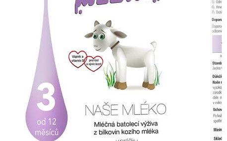 NAŠE MLÉKO 3 (12m+) 750 g – mléčná kojenecká výživa
