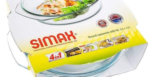 SIMAX Pekáč skleněný kulatý s víkem 3,7 l ( 2,50/1,20)2