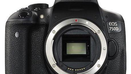 Digitální fotoaparát Canon 750D tělo (0592C018) černý + DOPRAVA ZDARMA