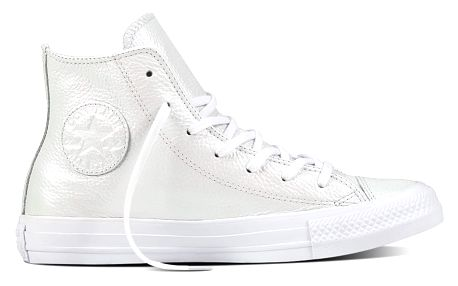 Converse bílé perleťové kožené tenisky Chuck Taylor All Star