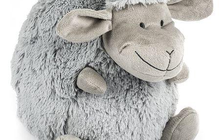 BO-MA Trading Polštářek Ovečka koule šedá, 25 cm
