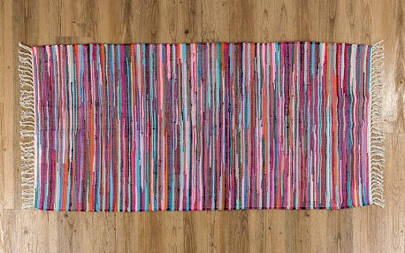 VOG Ručně tkaný koberec Juta barevná, 70 x 140 cm