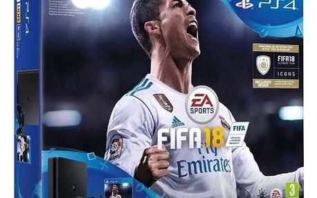 Sony PlayStation 4 Slim 1TB + FIFA 18 + PS Plus 14 dní