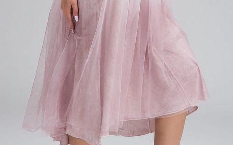 Deha pudrově růžová tylová sukně