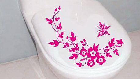 Samolepka na záchodové prkénko s motýly