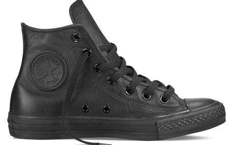 Converse černé kožené tenisky Chuck Taylor All Star Ctas Hi Black Monochrome