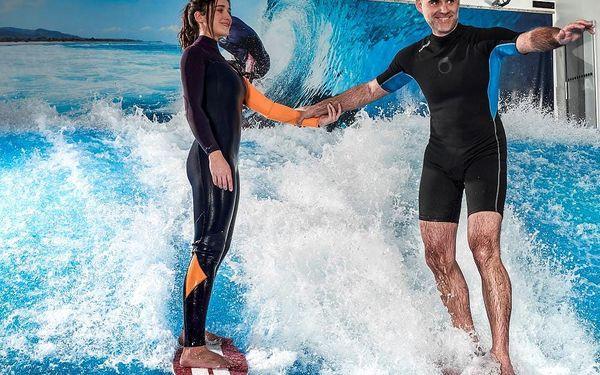Indoor surfing v Surf Areně, 1 hodina + instruktáž, počet osob: 1 osoba, Praha (Praha)3