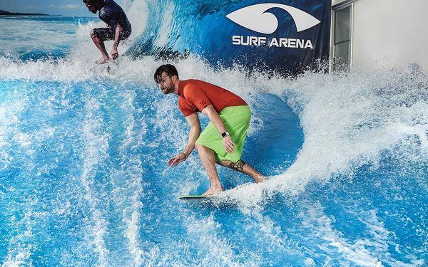 Indoor surfing v Surf Areně, 1 hodina + instruktáž, počet osob: 1 osoba, Praha (Praha)4