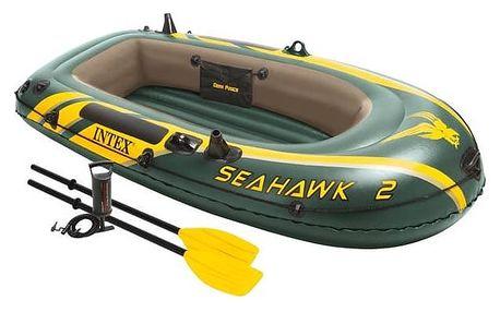 Člun nafukovací Intex Seahawk 2 SET, vesla + pumpa