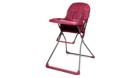 Jídelní židlička 4Baby FLOWER 2016 Dark Red vínová