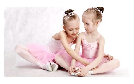 Zkušební hodina baletu pro holčičky