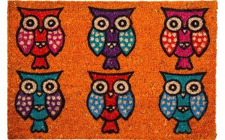 Koopman Rohožka Sovy oranžová, 40 x 60 cm