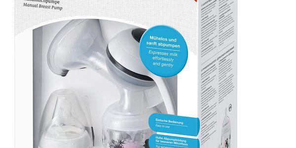 Odsávačka mateřského mléka NUK Jolie manuální šedá/bílá2