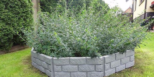 Zahradní palisáda obrubník lem trávniku 2,2 m šedá3
