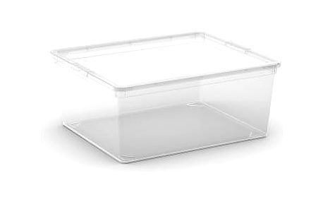 Plastový úložný box C-Box Transparent M, 18 L