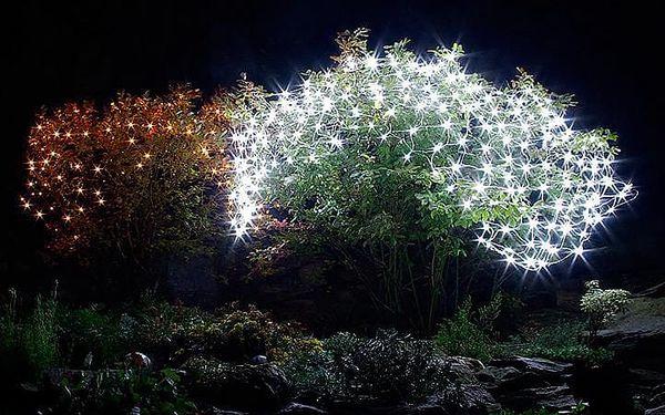 Vánoční osvětlení - světelná síť 1,5 x 1,5 m - studená bílá 100 LED3