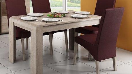 Jídelní stůl Link (dub sonoma) + SLEVA DPH v KOŠÍKU