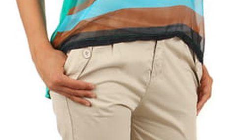 Dámské bavlněné business kalhoty béžová