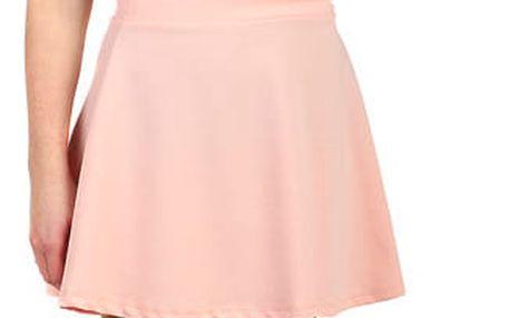 Jednobarevná dámská krátká sukně světle růžová