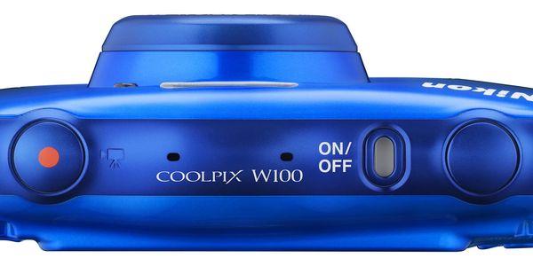 Digitální fotoaparát Nikon W100 BACKPACK KIT (VQA011K001) modrý4