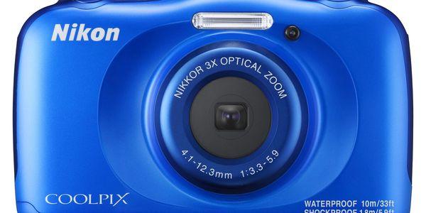 Digitální fotoaparát Nikon W100 BACKPACK KIT (VQA011K001) modrý5