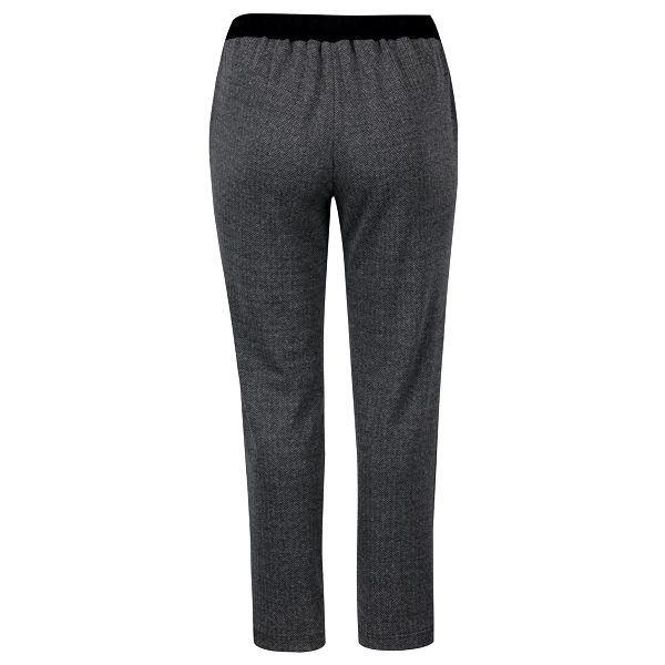 Tmavě šedé žíhané kalhoty s detaily Ulla Popken3