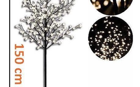 Nexos 1126 Dekorativní LED osvětlení - strom s květy 150 cm, teple bílé