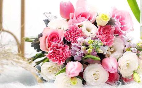 Čerstvá řezaná kytice v dárkovém balení