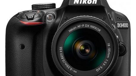 Nikon D3400 + AF-P 18-55 non VR