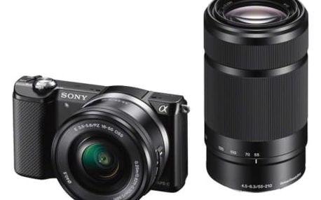 Sony Alpha 5000, černý + 16-50mm a 55-210mm (ILCE5000YB.CEC)