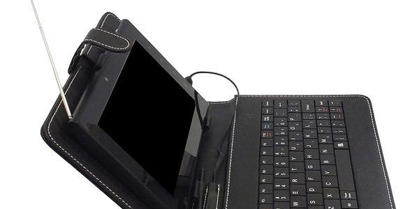 """Pouzdro na tablet s klávesnicí iGET F7B univerzal, 7"""" (F7B) černé4"""