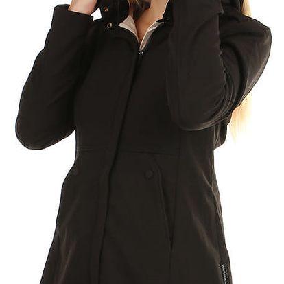 Dámská softshellová bunda- i pro plnoštíhlé černá