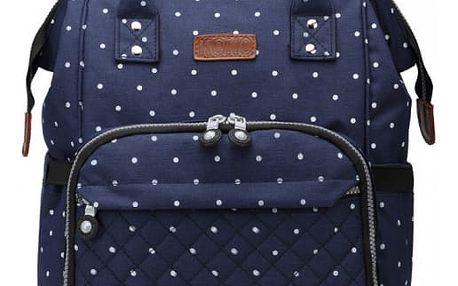 SET: Mateřský námořnicky modrý batoh na kočárek Blanche 6705