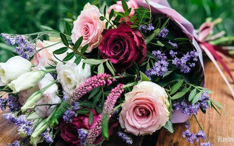 Voňavá kytice z lásky: mix květina dle výběru