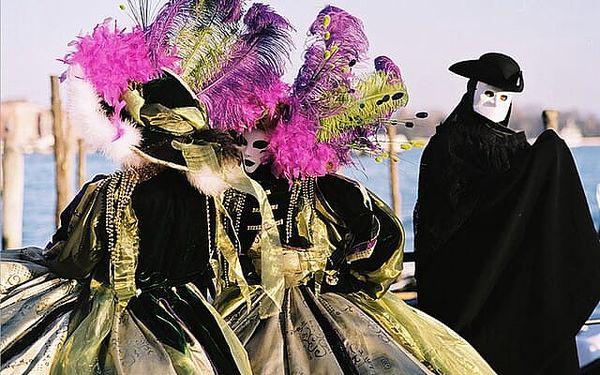 Itálie Benátky karneval 2022 s výlety lodí na ostrovy Murano, Bur..., Benátsko, autobusem, bez stravy3