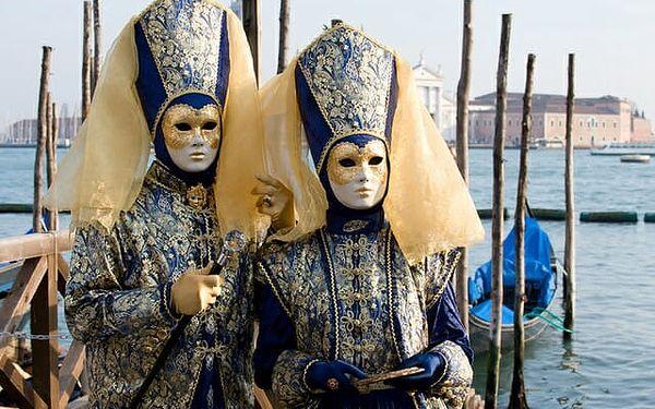 Itálie Benátky karneval 2022 s výlety lodí na ostrovy Murano, Bur..., Benátsko, autobusem, bez stravy4
