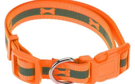 Obojek pro psa Neon oranžová, vel. M
