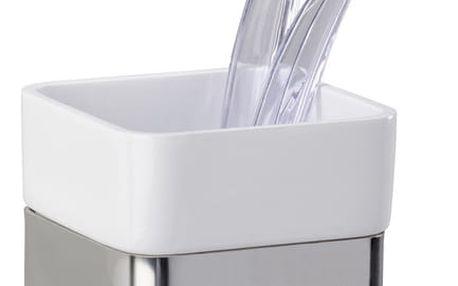 Wenko Nádobka na zubní kartáčky PREMIUM PLUS nerezová ocel