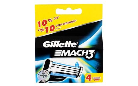 Gillette Mach3 4 ks náhradní břit M