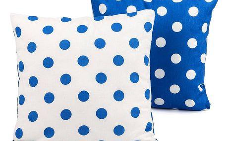 4Home Povlak na polštářek Modrý puntík