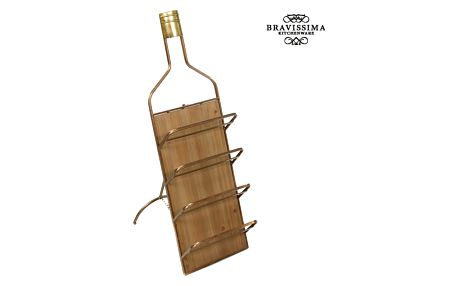 Kovový nástěnný držák na vína by Bravissima Kitchen
