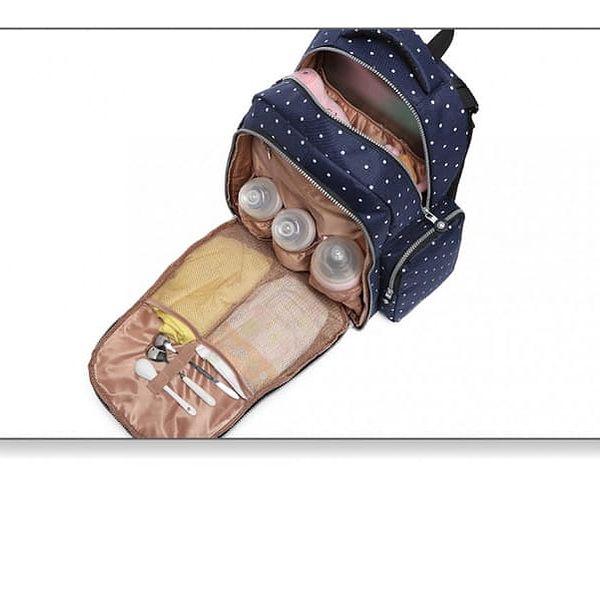 SET: Mateřský námořnicky modrý batoh na kočárek Dario 6706D22