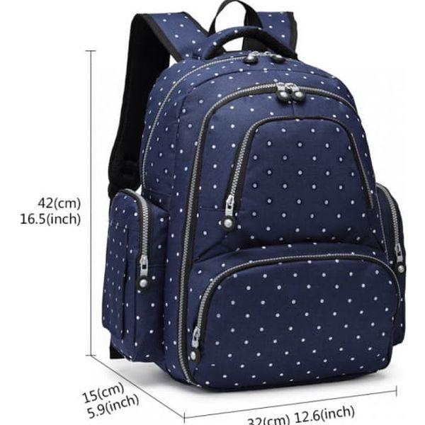 SET: Mateřský námořnicky modrý batoh na kočárek Dario 6706D23