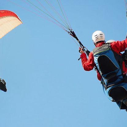 Tandem paragliding, cca 15 minut ve vzduchu pro jednoho